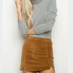 Brandy Melville Small Raquel Faux Suede Skirt